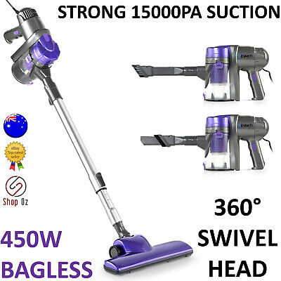 New HANDHELD STICK VACUUM CLEANER Bagless Vaccum Handstick Vac Upright 450w
