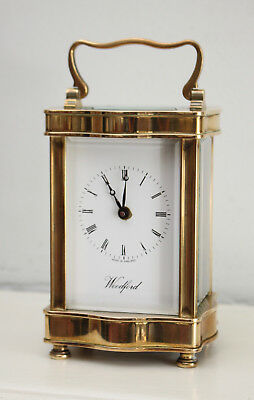 Another Fine English Woodford Carriage Clock, Serpentine Form Case, GWO & Key