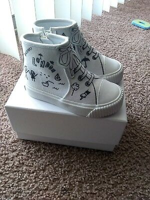 Baby Girl Burberry  Doodle Print High-Top Trainers
