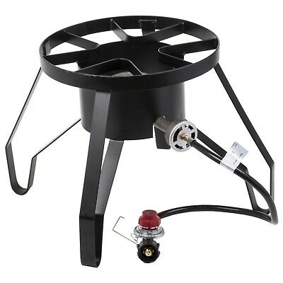 Round Single Burner Outdoor Patio Stove / Range   110,000 BTU Camping  Cooking LP