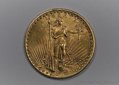 1914 Saint GAUDENS $20 DOUBLE EAGLE GOLD Coin LOOK No Reserve 1 oz GOLD | 0563