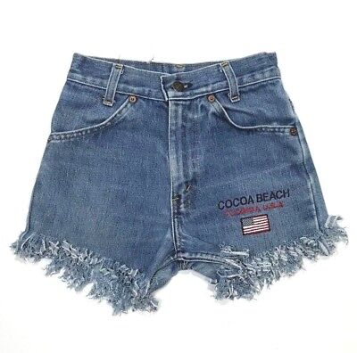 VTG Levi's Youth Girl's 6 Orange Tab Cut Off Jeans Shorts Made in Canada GUC