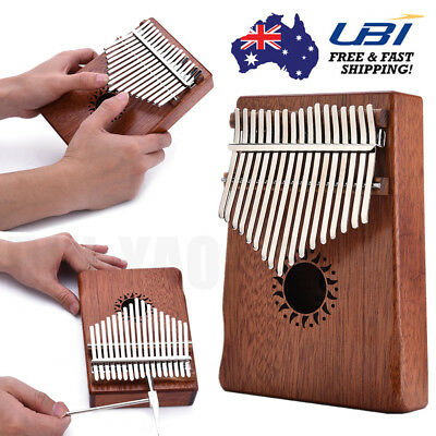 Walter 17 Keys Wooden Thumb Piano Finger Hand Percussion African Kalimbas AU