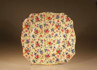 """Royal Winton """"Old Cottage Chintz"""" Ascot Square Dinner Plate, England"""