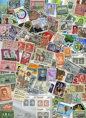 FOREIGN Stamp MIX OFF PAPER 250+  From Old Collections With HUGE BONUS!!!