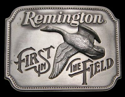 Ii16128 Vintage 1980 ***remington*** First In The Field Goose Gun Belt Buckle