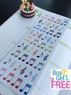 PP461 -- Music Note Icons Planner Stickers for Erin Condren (48pcs)