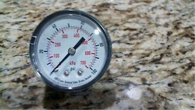 GRAINGER 4FMC6 PRESSURE Gauge 0-100 Psi Size 2 -Free Shipping