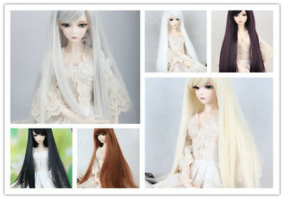 "1/4 BJD Doll Hair Long Straight Wig 7-8"" 17-18.5cm SD DZ DOD LUTS 6 colors"