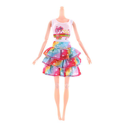 Fashion Doll Dress For Barbie Doll Clothes Party Gown Doll Accessories Gift AU*-