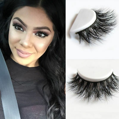 5 Pair 3D Mink Natural Thick Eye Lashes False Fake Eyelashes Makeup Extension AU