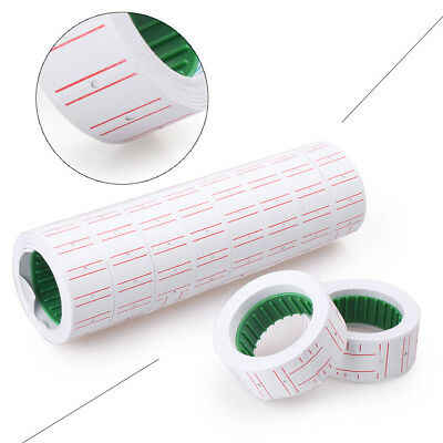 10x Rolls White Price Pricing Label Paper Tag Tagging For MX-5500 Labeller Gun