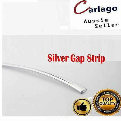 7M Chrome Silver Car Door Panel Edge Gap Trim Line Dashboard Garnish Accessories