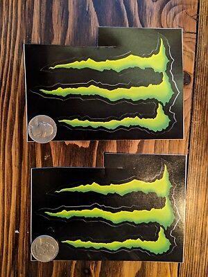 (2) Monster Energy Drink decals/stickers 4x3