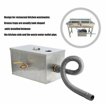 8LB Grease Trap Interceptor 8lbs 5GPM Gallon Per Minute Stainless Steel