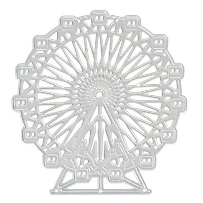 Metal Cutting Dies Scrapbooking Ferris Wheel Pattern DIY Embossing Folder