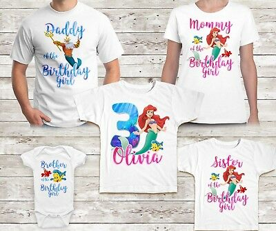 Source LITTLE MERMAID BIRTHDAY Shirt Ariel Custom Name And Age PartyFamily