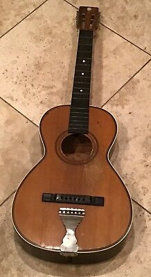 Vintage Parlor Early Romantic Guitar Late 1800s to Early 1900's  Antique N/R