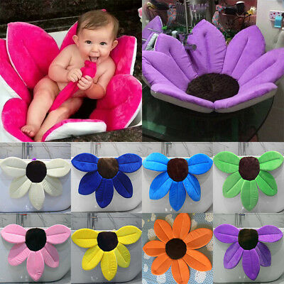 Blooming Flower Bath Baby BathTub Baby Blooming Sink For Kids Folding Safety Mat