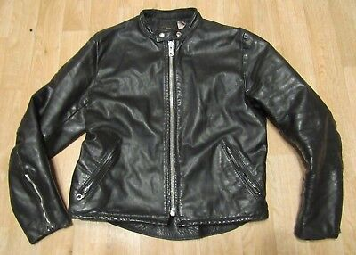 Vintage Vanson Leathers Size 40 Cafe Racer Jacket 1970s USA Black