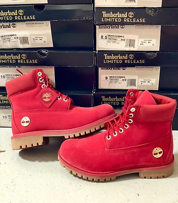 New Timberland Boots For Men Limited Edition 6-Inch Premium Waterproof Red 64e4b4c60