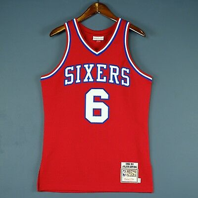 62efdbfbb 100% Authentic Julius Erving Dr J Mitchell   Ness Sixers Jersey Size 40 M