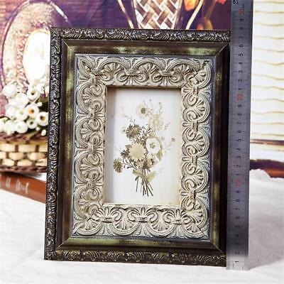 Vintage Picture Frame European Wooden Classic Ancient Style Household Decoration