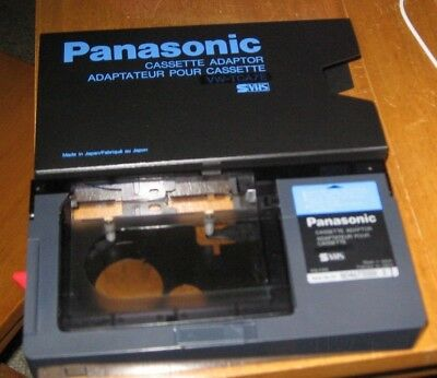 Panasonic Vhs Playpak Pv-P1 Vhs-C Cassette Adapter Play Vhs-C Tapes In Vcr/vhs
