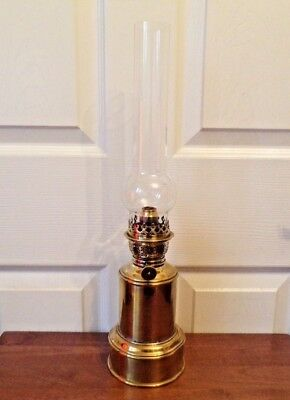 Vintage French Brass Pigeon Lamp (Style) large Butlers oil lamp working order