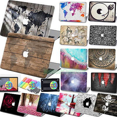 "Matte Rubberized Map Wood Pop Print Hard Case Cover For Macbook Air Pro 11""13""15"
