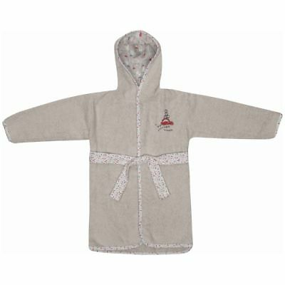 Bébé-Jou Baby Bathrobe Grey Size 86/92 Towelling Dressing Nightwear 3016108
