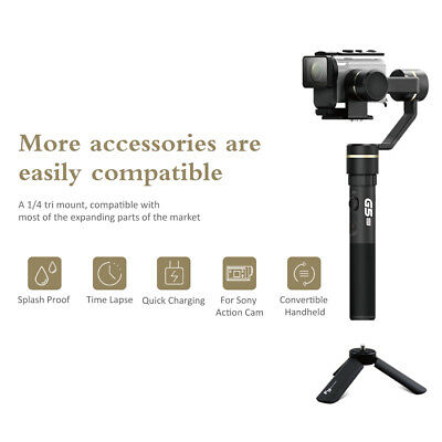 Feiyu G5GS 3-Axis Handheld Stabilizer Handle Grip for Sony Action Cameras TV076