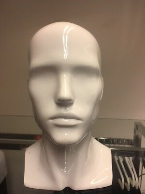High Quality Acrylic Male Mannequin Head Shop Display Stand for Wigs Cap Glasses