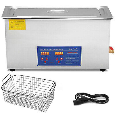 Stainless Steel 30 L Liter Industry Heated Ultrasonic Cleaner Heater w/ Timer