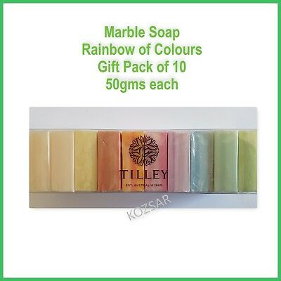 TILLEY Soap Marble Soap Gift Pack 50gm Rainbow Colours  - AUSTRALIAN MADE
