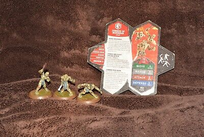 HEROSCAPE: Zombies Of Morindan - 3 figures and card in good condition