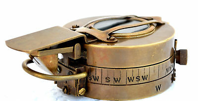 Antique Engineering Compass Brass Military Compass  Prismatic Compass Compass