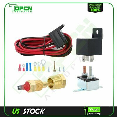 Electric Cooling Fan Thermostat Relay Switch Wiring & Hardware 175 To 185 Degree