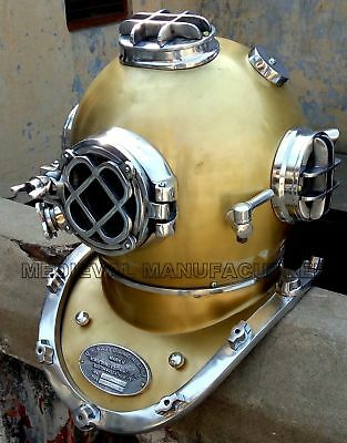 "Vintage Copper Morse US Navy Mark V Diving Divers Helmet Brass 18 "" Sea Scuba"