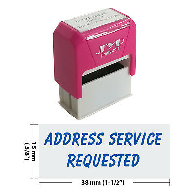 Address Service Requested  Self Inking Rubber Stamp - JYP 4911R-14  BLUE INK