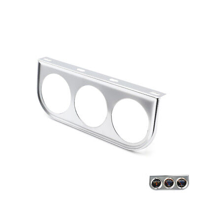 "2"" 52mm Universal 3 Triple Gauge Holder Bracket Face Pod Panel Mount Silver"