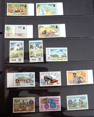 FIJI - various mint stamps from 1974 - 13 in all