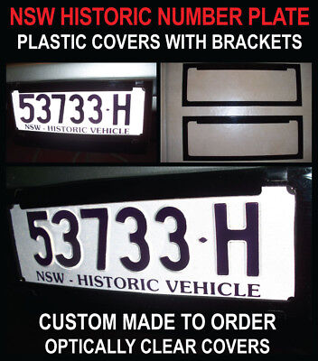Nsw Historic Vehicle Number Plate Covers (Clear Plastic)