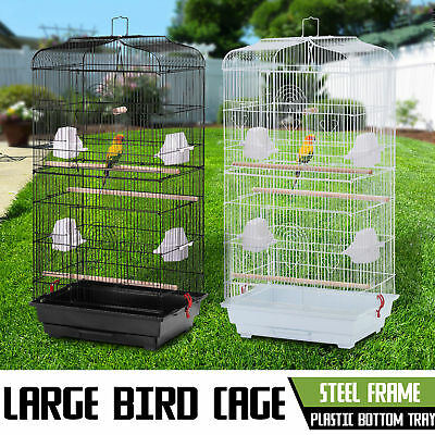XL Large Metal Bird Cage Budgie Canary Finch Parrot Cockatiel Birdcage Colours
