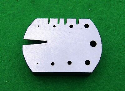 Staking plate with v-slot (Clock/Jewellery repair tool)