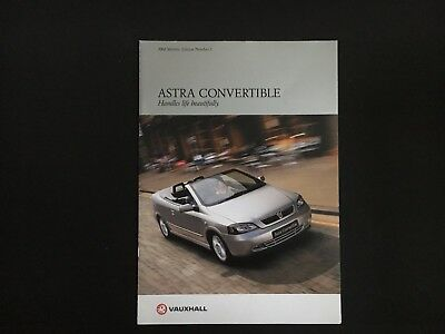 Vauxhall Astra Convertible 2001 22l 16v 2dr Breaking Parts Only