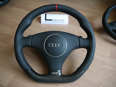 Audi A3 S3 8p A4 Tt Rare Flat Bottom Carbon Fibre Steering Wheel
