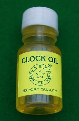 Clock oil for use with medium to large clock movements. Excellent quality, 25ml