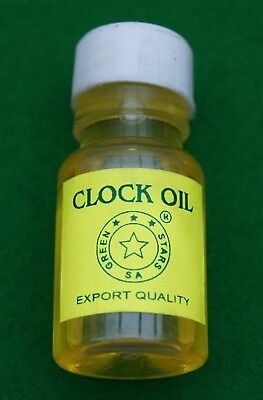 Watch oil 25ml,for use with medium to large clock movements. Excellent quality.