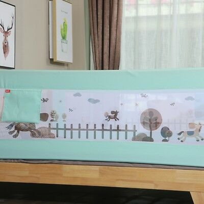 Cartoon Baby Safety Fence Guard Adjustable Children Infant Bed Guardrail